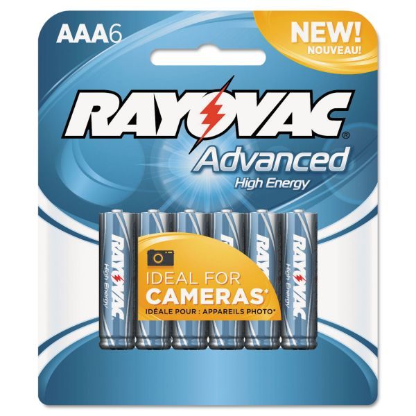 Rayovac Alkaline High Energy AAA Batteries