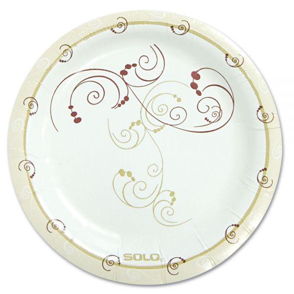 "Dart Symphony Paper Dinnerware, Mediumweight Plate, 6"", Tan, 125/Pack"
