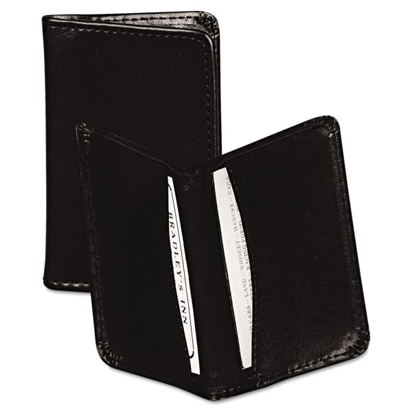 Samsill Carrying Case (Wallet) for Business Card - Black