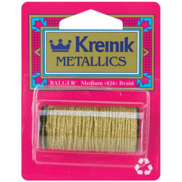 Kreinik Medium Metallic Corded Braid #16 11yd