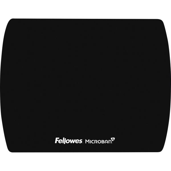 Fellowes Microban Ultra Thin Mouse Pad - Black