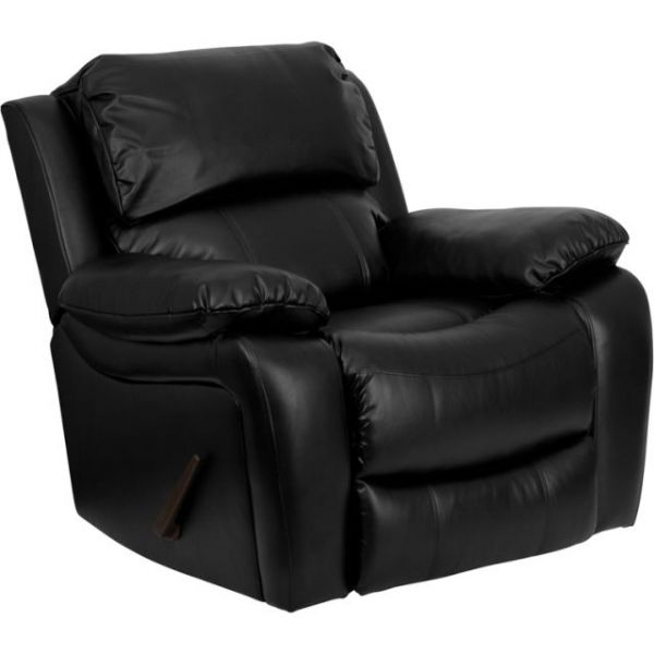 Flash Furniture Black Leather Rocker Recliner [MEN-DA3439-91-BK-GG]