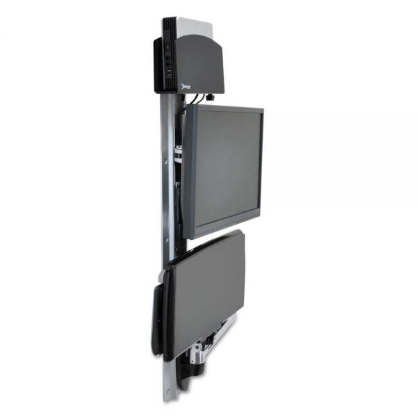 Ergotron LX Wall Mount System for Medium CPU, Polished Aluminum/Black