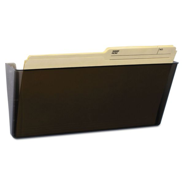 Storex Wall File, Legal, 16 x 7, Single Pocket, Smoke