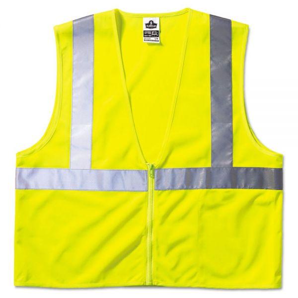 ergodyne GloWear 8210Z Class 2 Economy Vest, Polyester Mesh, Large/X-Large, Yellow