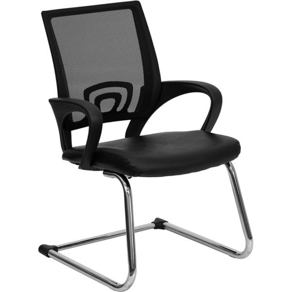Flash Furniture Black Leather Office Side Chair