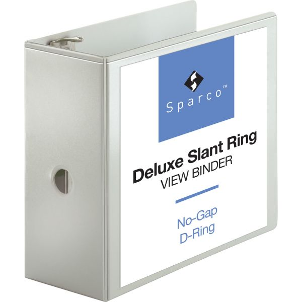 "Sparco Deluxe 5"" 3-Ring View Binder"
