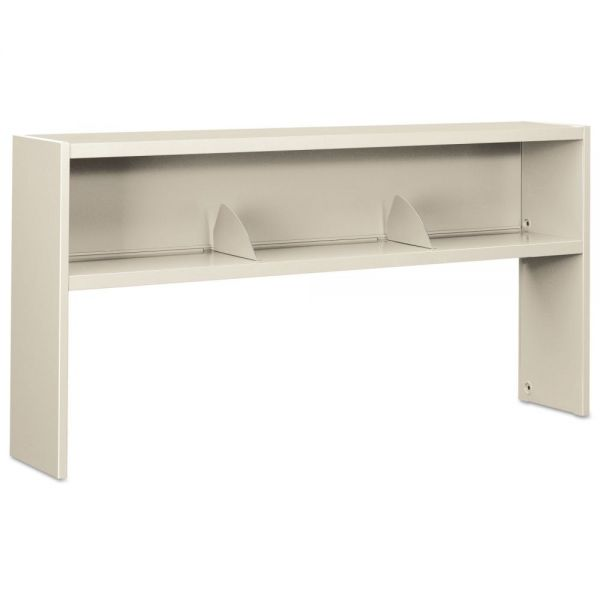 HON 38000 Series Stack On Open Shelf Hutch, 72w x 13 1/2d x 34 3/4h, Light Gray