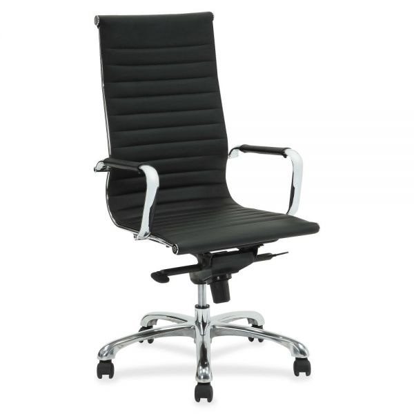 Lorell Modern Chair Series High-back Leather Office Chair