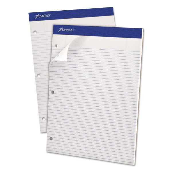 Ampad Double Sheet Letter-Size White Legal Pad