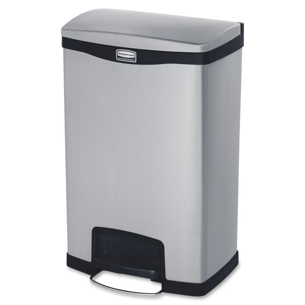 Rubbermaid Step-On Slim Jim 13 Gallon Trash Can With Lid