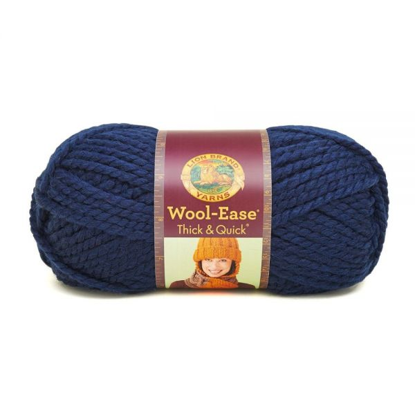 Lion Brand Wool-Ease Thick & Quick Yarn - Navy