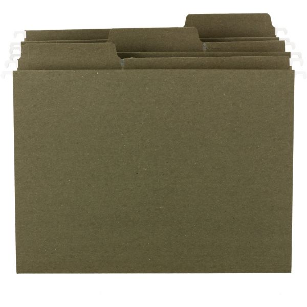 Smead 100% Recycled FasTab Hanging File Folders