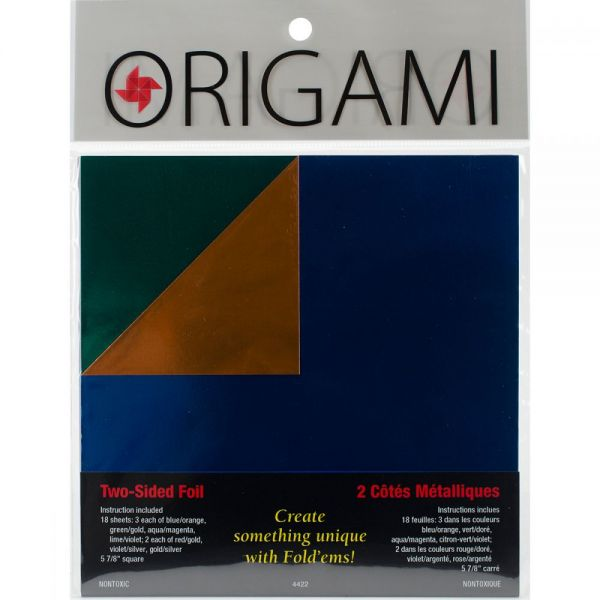 Fold 'Ems 2-Sided Foil Origami Paper