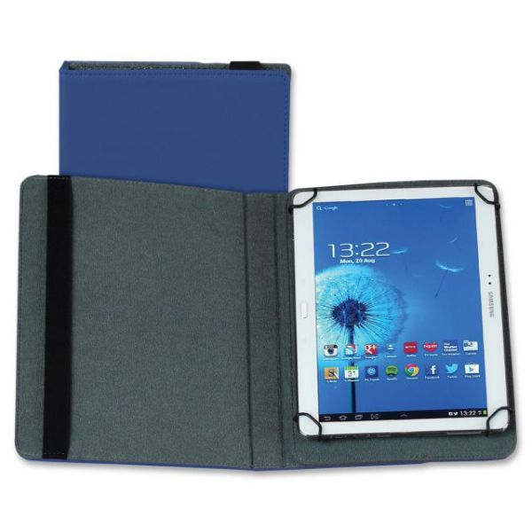 "Samsill Carrying Case (Folio) for 10"" Tablet - Blue"
