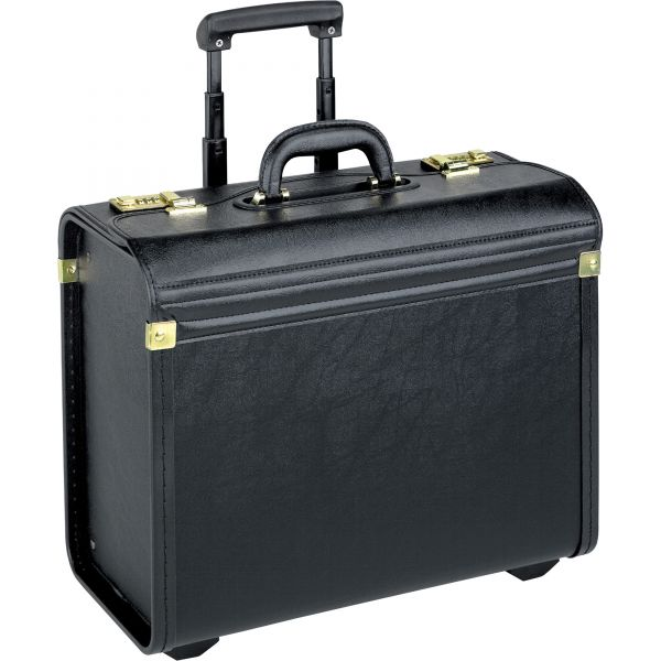 Lorell Travel/Luggage Case (Roller) for Travel Essential, Books, File Folder - Black
