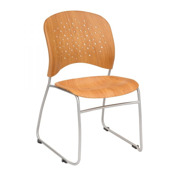 Safco Reve Plastic Wood Back Guest Chairs