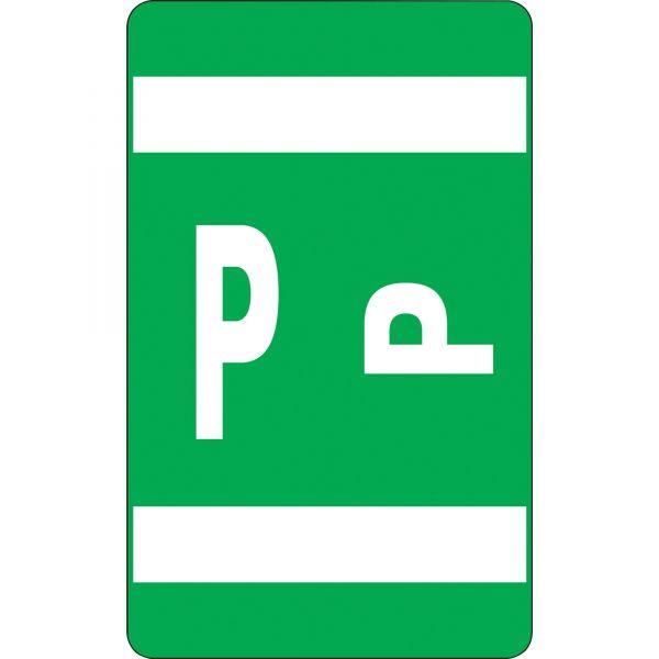 Smead AlphaZ ACCS Color-Coded Alphabetic Label - P