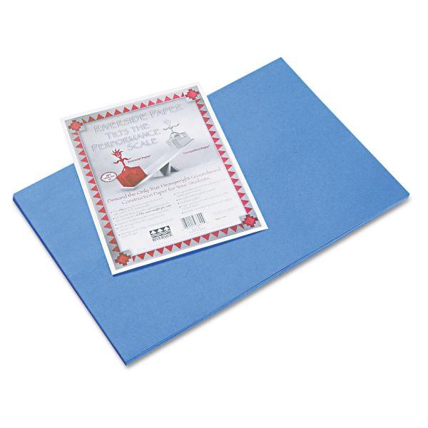 Riverside Groundwood Blue Construction Paper