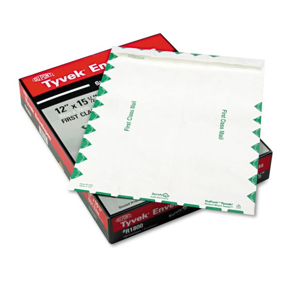 "Quality Park 12"" x 15 1/2"" First Class Tyvek Envelopes"