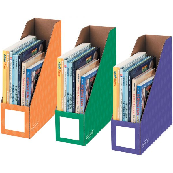 "Bankers Box 4"" Magazine File Holders - Secondary, 3pk"