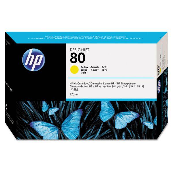 HP 80 Yellow Ink Cartridge (C4873A)