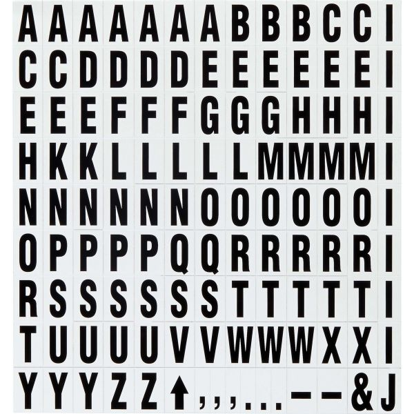 Quartet Magnetic Letters & Symbols for Magnetic Boards, 3/4 H, Black-on-White, 120/set