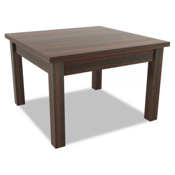 Alera Alera Valencia Series Occasional Table, Square,23-5/8 x 23-5/8 x 20-3/8,Mahogany
