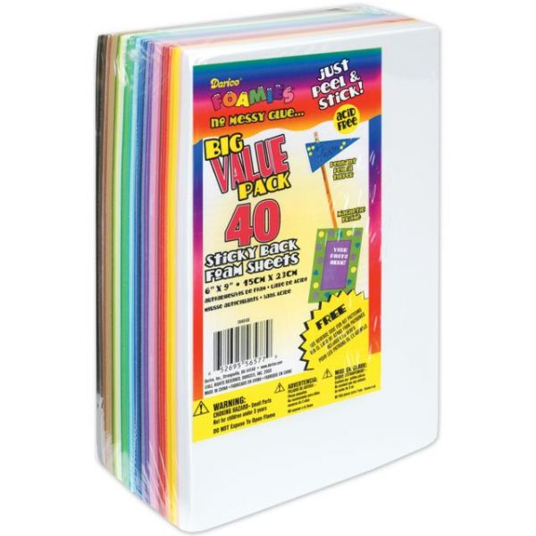 Sticky Back Foam Sheets Value Pack