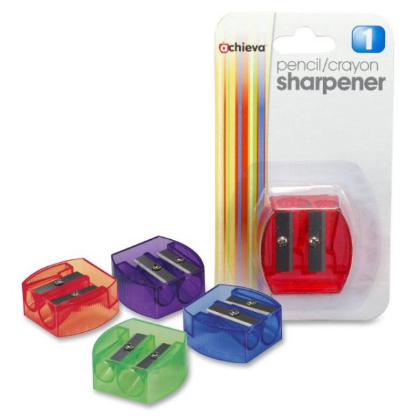 OIC Dual Purpose Manual Pencil & Crayon Sharpener
