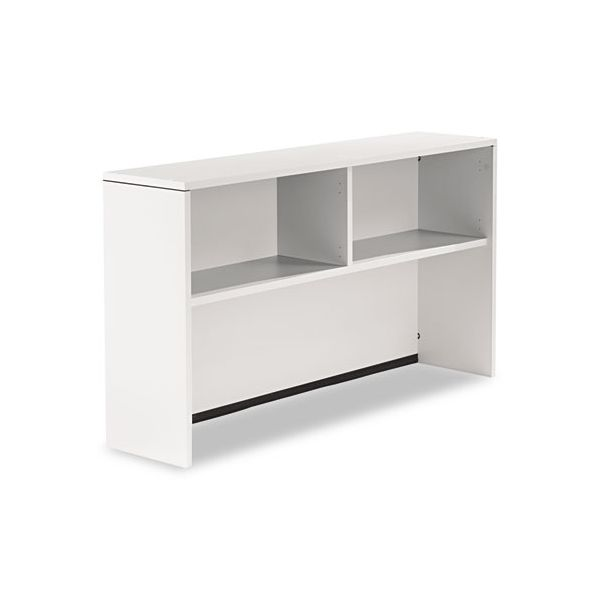 Genoa Series Open Hutch for Credenza, Gray, 66w x 15d x 36h