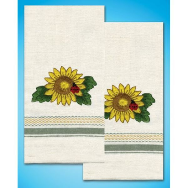 "Stamped Kitchen Towels For Embroidery 20""X28"" 2/Pkg"