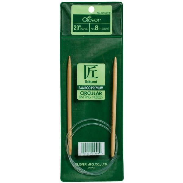 Takumi Bamboo Circular Knitting Needles 29""