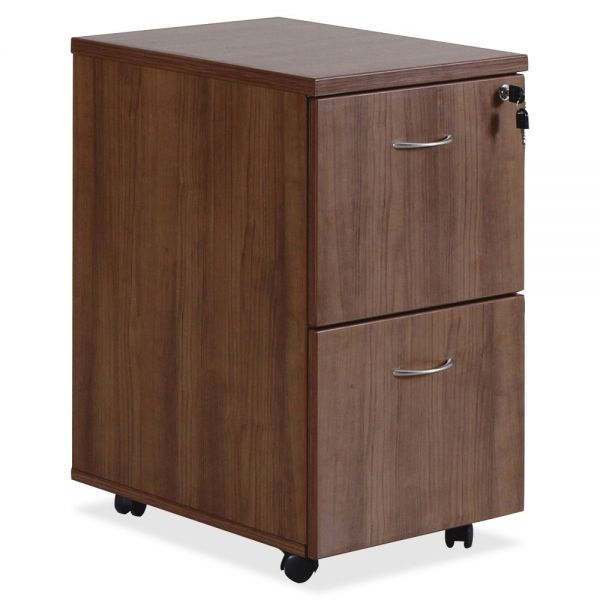 Lorell Essentials Walnut F/F Mobile Pedestal