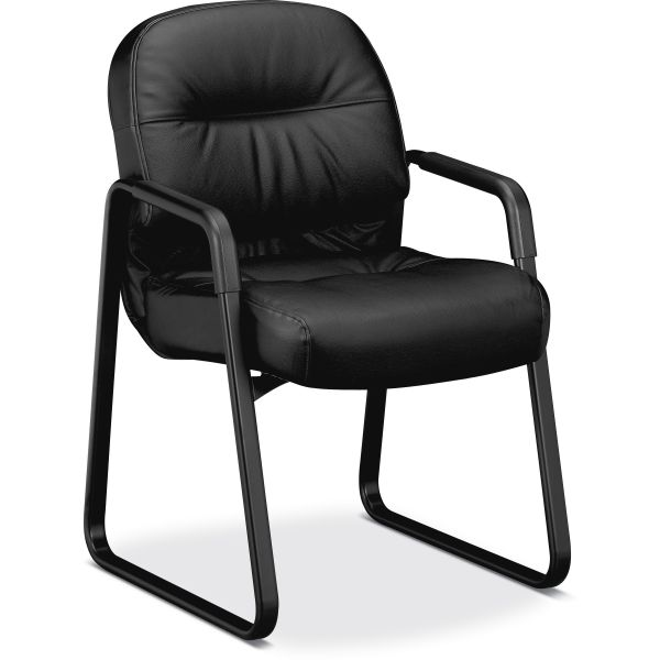 HON Pillow-Soft 2093 Series Sled Based Guest Chair