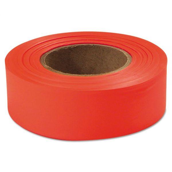 "Empire Flagging Tape, Glo-Orange, 1"" x 200ft, Plastic"