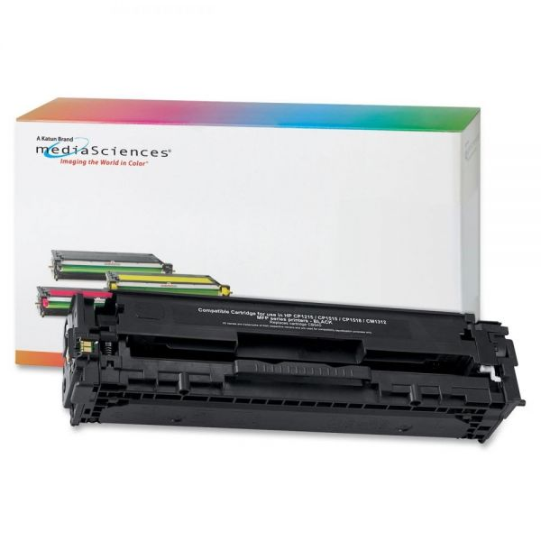 Media Sciences Remanufactured HP 128A Black Toner Cartridge