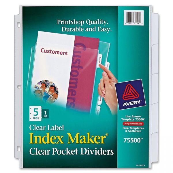 Avery Index Maker Binder Pocket View Dividers