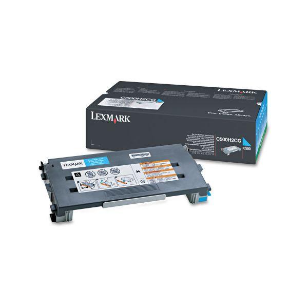 Lexmark C500H2CG Cyan High Yield Toner Cartridge