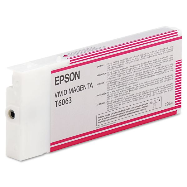 Epson T6063 Vivid Magenta Ink Cartridge