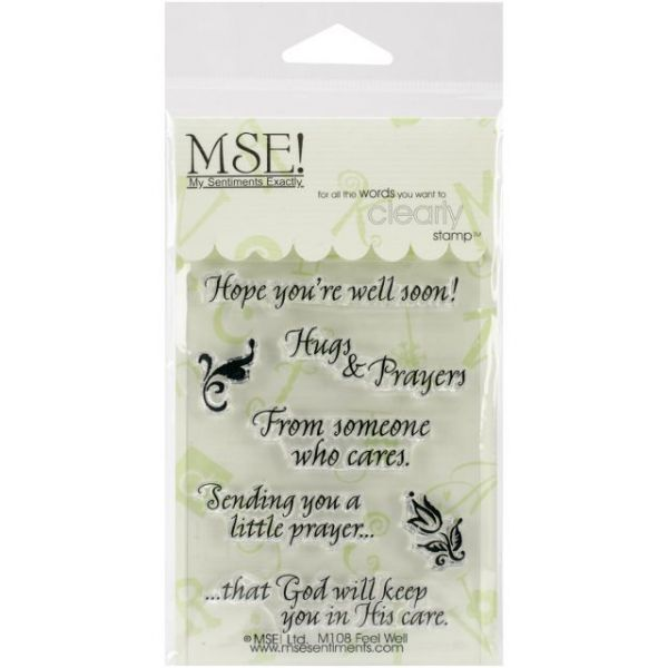 """My Sentiments Exactly Clear Stamps 3""""X4"""" Sheet"""