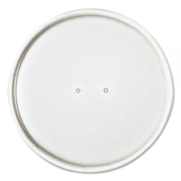 "Dart Paper Lids for 32oz Food Containers, White, Vented, 4.6""Dia, 25/Bag, 20 Bg/Ctn"