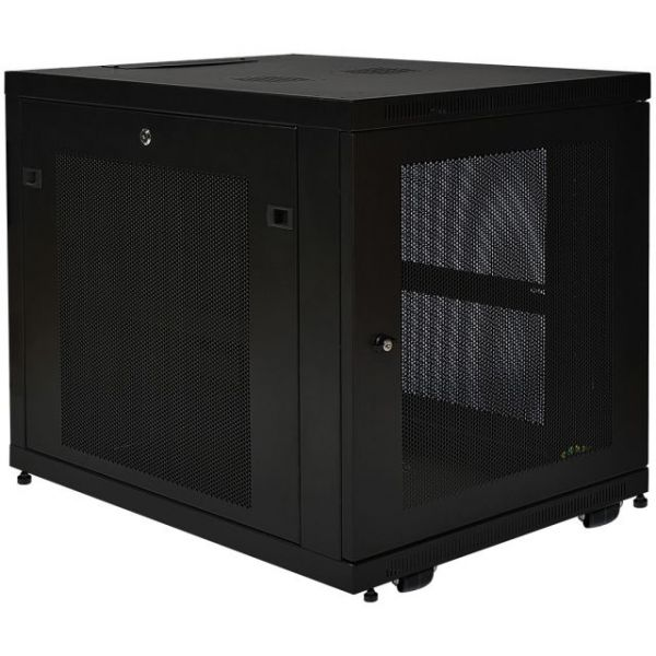 Tripp Lite 12U Rack Enclosure Server Cabinet Doors & Sides 300lb Capacity