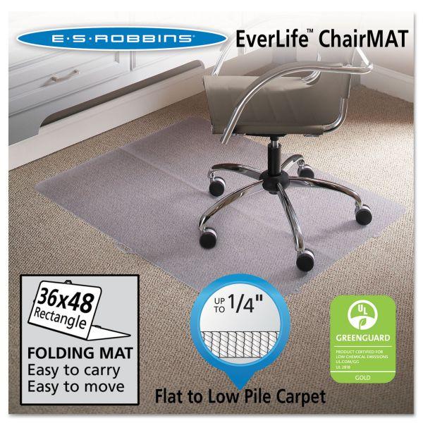 ES Robbins Foldable Series Low Pile Chair Mat