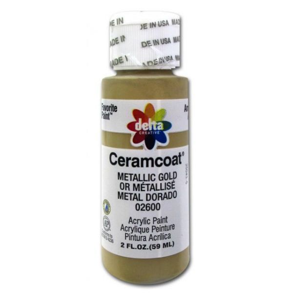 Ceramcoat Gleams Metallic Gold Acrylic Paint