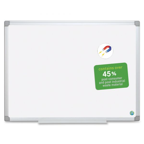 "MasterVision 48"" x 36"" Earth Gold Ultra Magnetic Painted Steel Dry Erase Whiteboard"