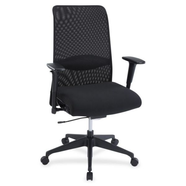 Lorell Weight Activated Mesh Back Suspension Office Chair