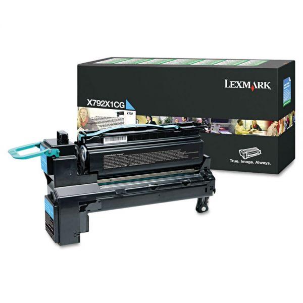 Lexmark X792X1CG Cyan Extra High Yield Return Program Toner Cartridge