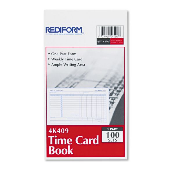 Rediform Single-Sided Weekly Time Cards