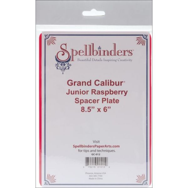 "Spellbinders Grand Calibur Junior Spacer Plate 8.5""X6"""